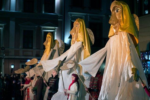Сцена з вистави академічного духовного театру «Воскресіння» під назвою «Різдвяна феєрія»