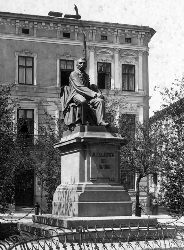 Пам'ятник Александру Фредру, 1920 рік