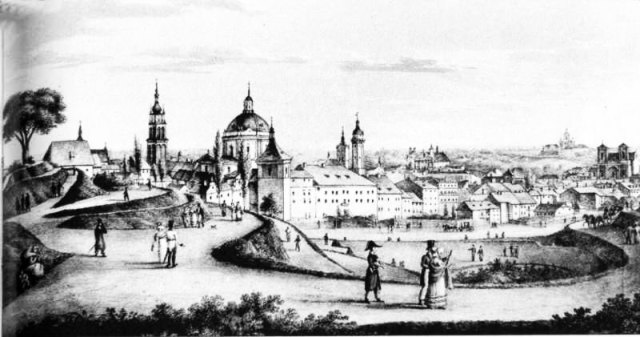 Губернаторські вали. Літографія А. Лянге. 1823 р.