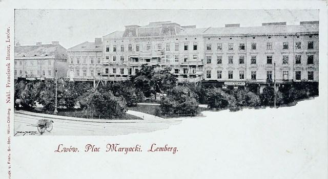 Готель «Європейський» («Hotel d'Europe») на пл Маріацькій,4 (тепер пл. Міцкевича) – один із найстаріших львівських готелів, його відкрито 1804 р. Готельний будинок 30-х рр. було знесено у 2004 р., а через два роки тут відбудували новий, за планами кінця ХІХ ст.