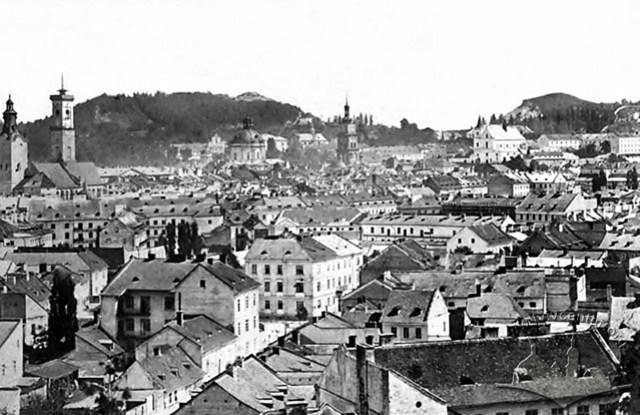 Вид на Львів із Цитаделі, фото 1860-1870- х рр.