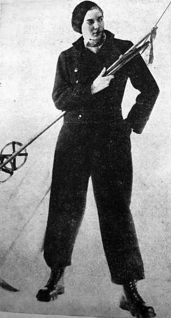 Вигідний лещатарський одяг нового покрою, 1933 р.