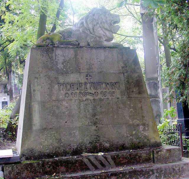 Могила Т.Рутовського на Личаківському кладовищі