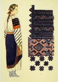Обкладинка і сторінка з альбому О. Кульчицької «Народний одяг західних областей УРСР» (1959) (зі сайту http://www.nbuv.gov.ua/node/191)