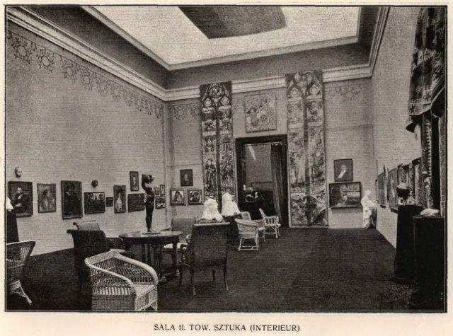 Інтер'єр зали номер 2 палацу мистецтв у 1910 році.