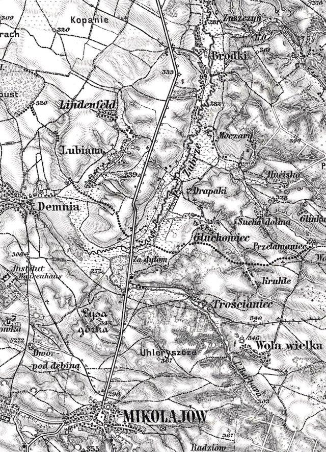 Село Бродки на карті 1926 року