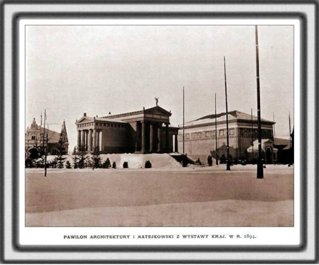 Вид на палац Архітектури та Мавзолей Матейка. Фото 1894 року