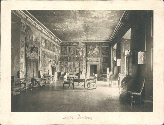 Інтер'єр Зеленої Зали Підгорецького замку. Фото 1912 року
