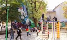 Відновлений дитячий майданчик, вулиця Богдана Хмельницького, № 66–72