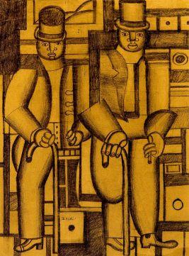 Генріх Штренг (Марк Влодарський), Два негри, 1926р. Папір, олівець