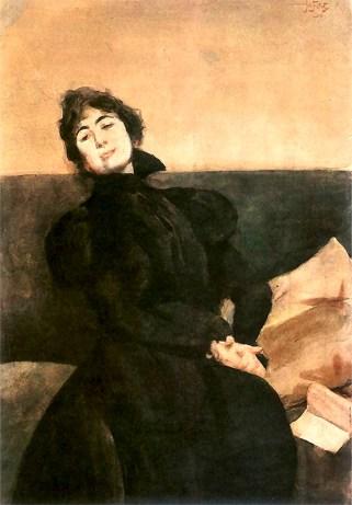 «Портрет Габріелі Запольської», 1898 рік. Автор – Юліан Фалат