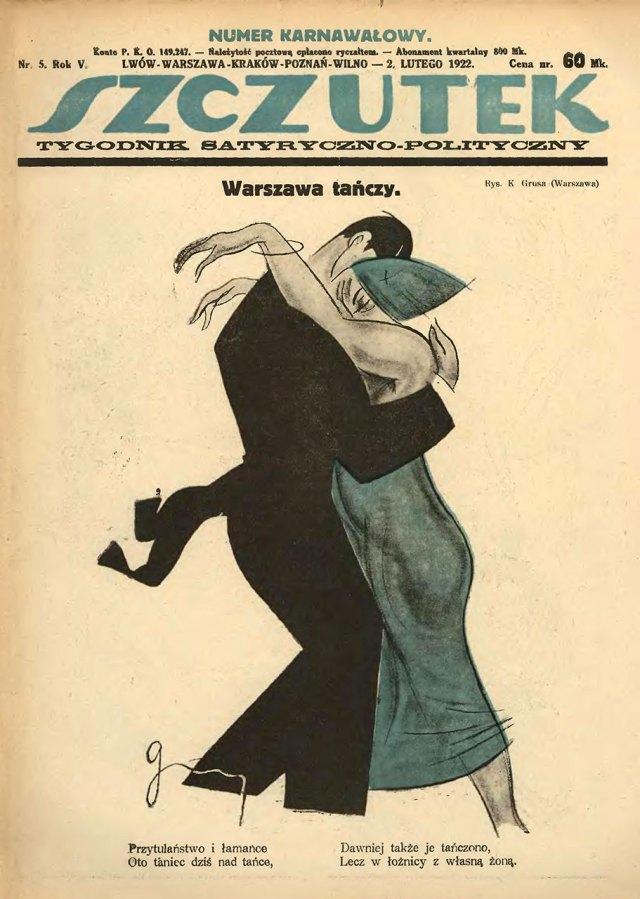 Обкладинка львівського сатиричного тижневика Szczutek (1922 рік)