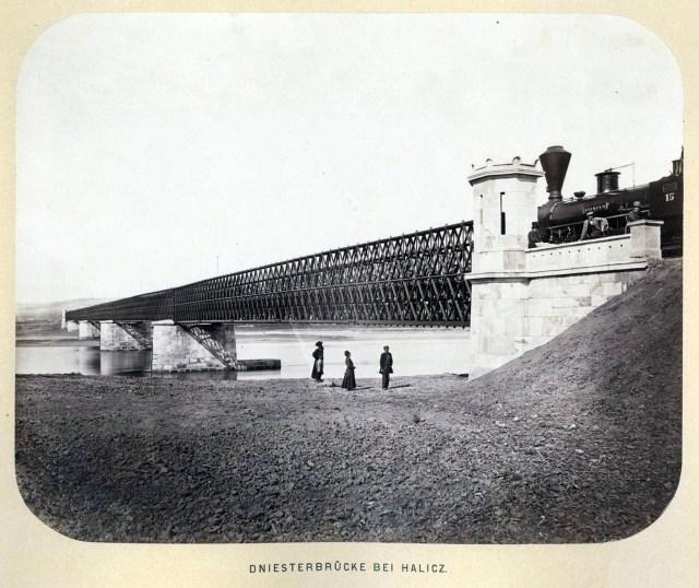 Залізничний міст через Дністер біля Галича (1868)