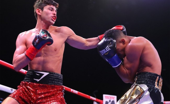 Photos Ryan Garcia Drills Jose Lopez In Two Rounds