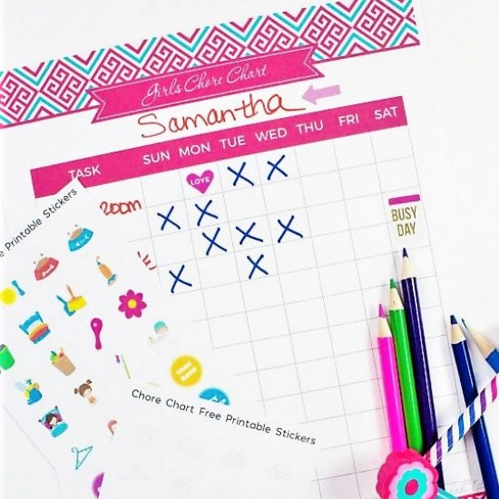 free printable chore chart stickers craftgawker