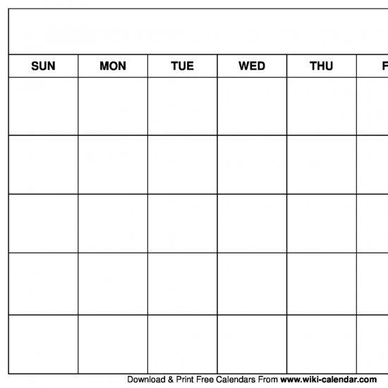 printable blank calendar templates craftgawker