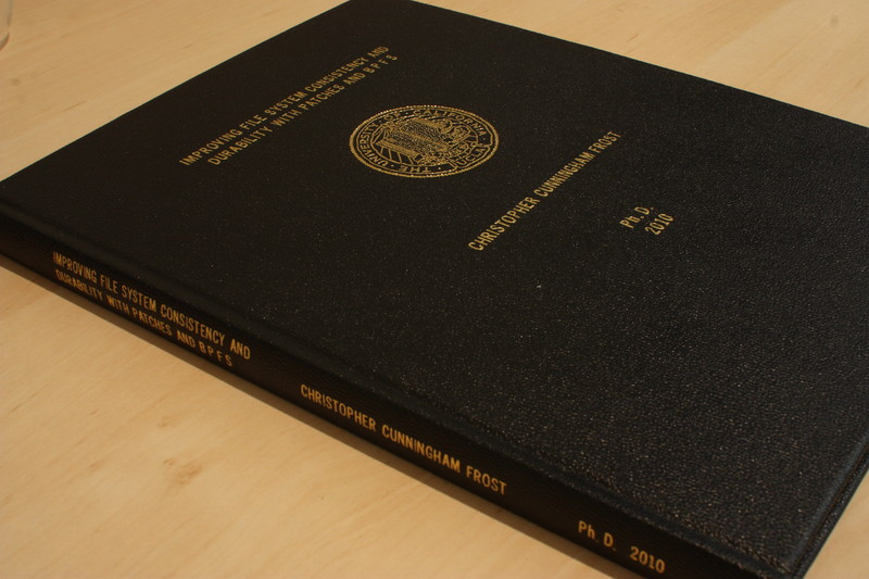 buffalo thesis binding