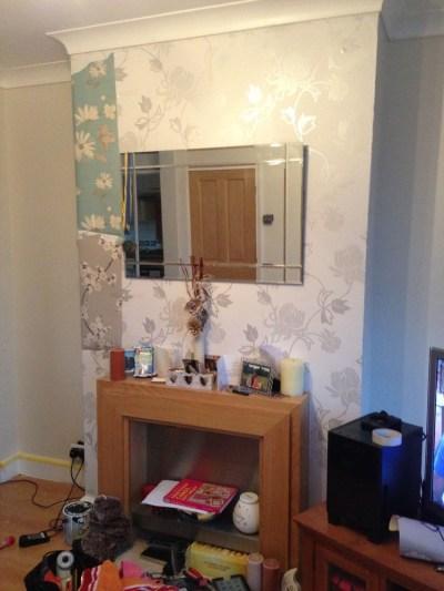 Chimney breast wallpaper - Painting & Decorating job in Dagenham, Essex - MyBuilder