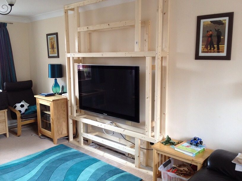 Fake Chimney False Chimney Breast Install In Lounge For 55 Inch Tv