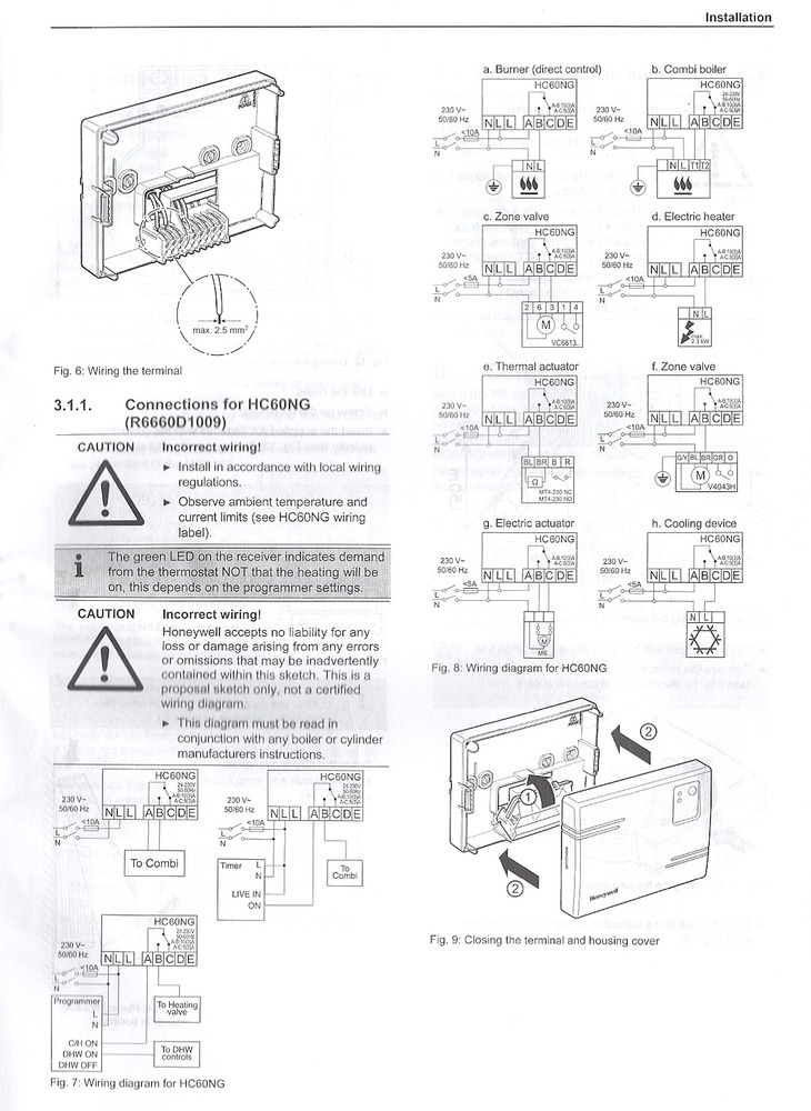 wiring diagram for honeywell t40 thermostat