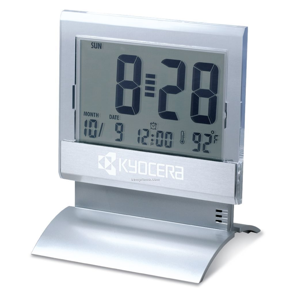 Digital Desk Clock Large Display Digital Desk Clock W Alarm And Thermometer 3