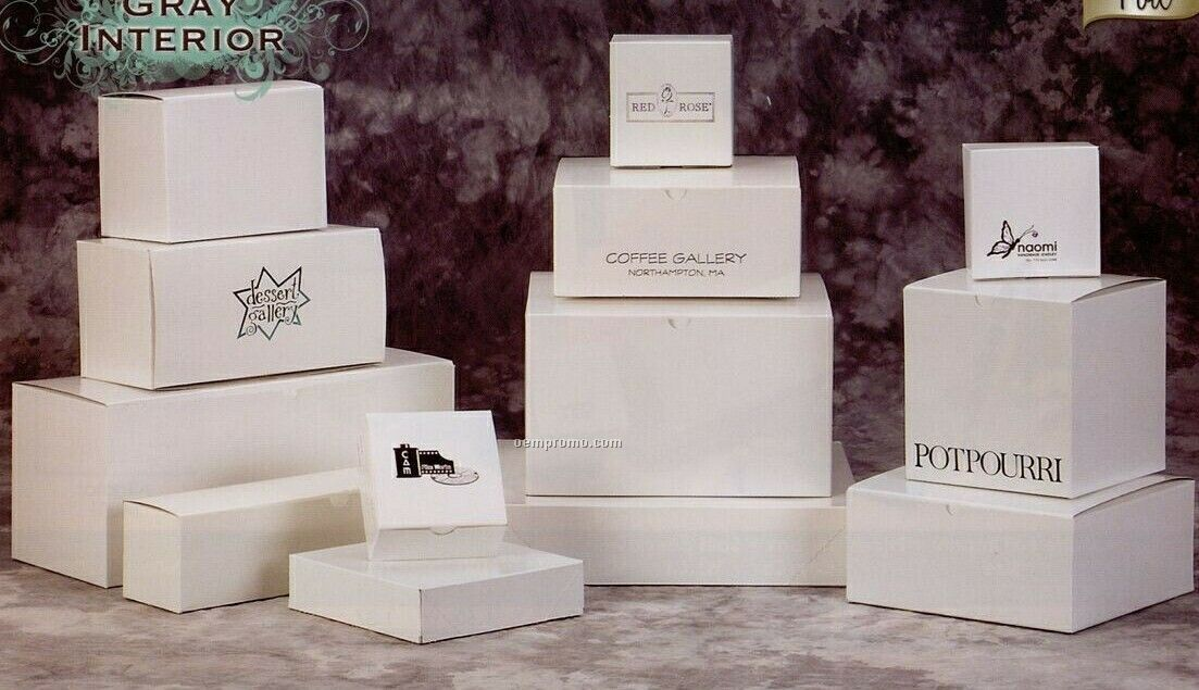White Gloss 2 Piece Pop Up Gift Boxes 12quotx12quotx25quotchina