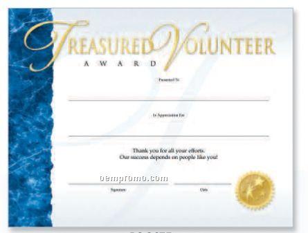 volunteer award certificate template - zaxa
