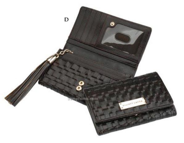 Elliott Lucca Intreccio Indexer Woven Leather Walletchina