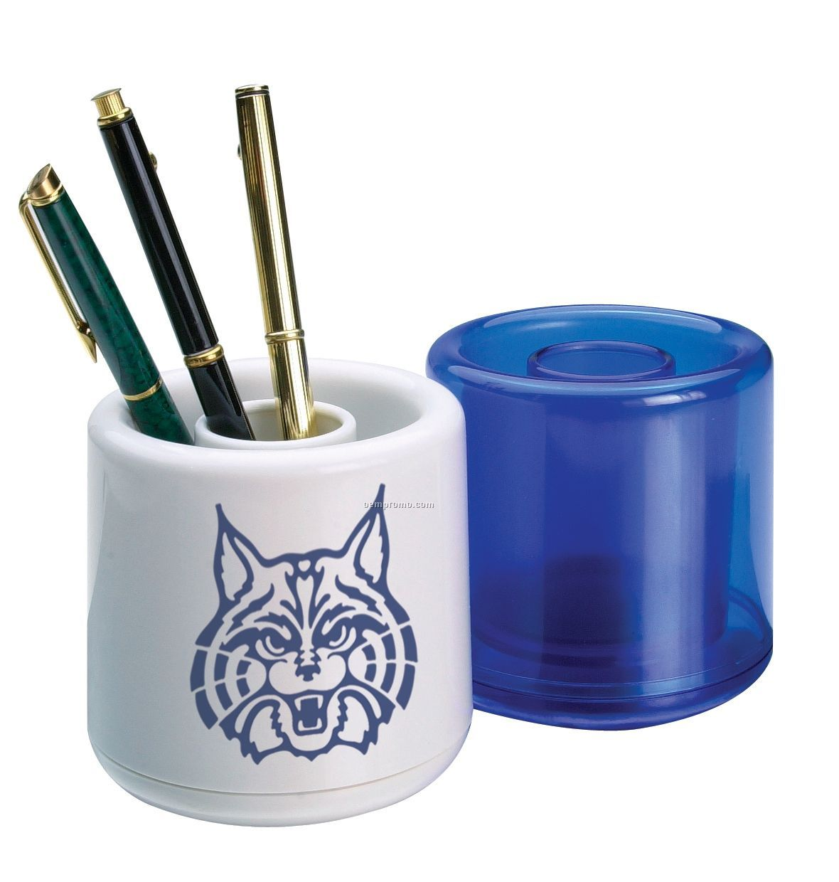Pen Cup Holder Twin Barrel Pen Cup China Wholesale Twin Barrel Pen Cup