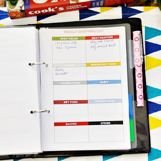 free meal planning printables craftgawker