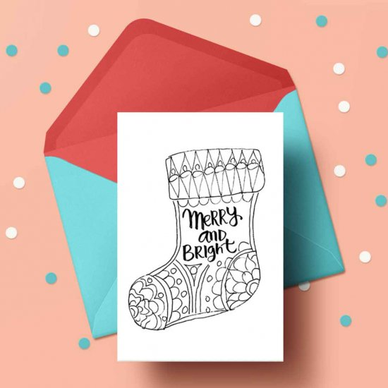 printable holiday cards to color craftgawker