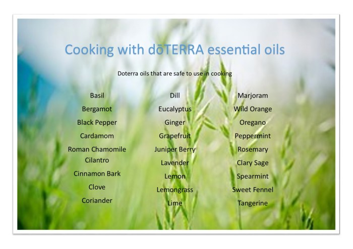 Cooking with Doterra essential oils