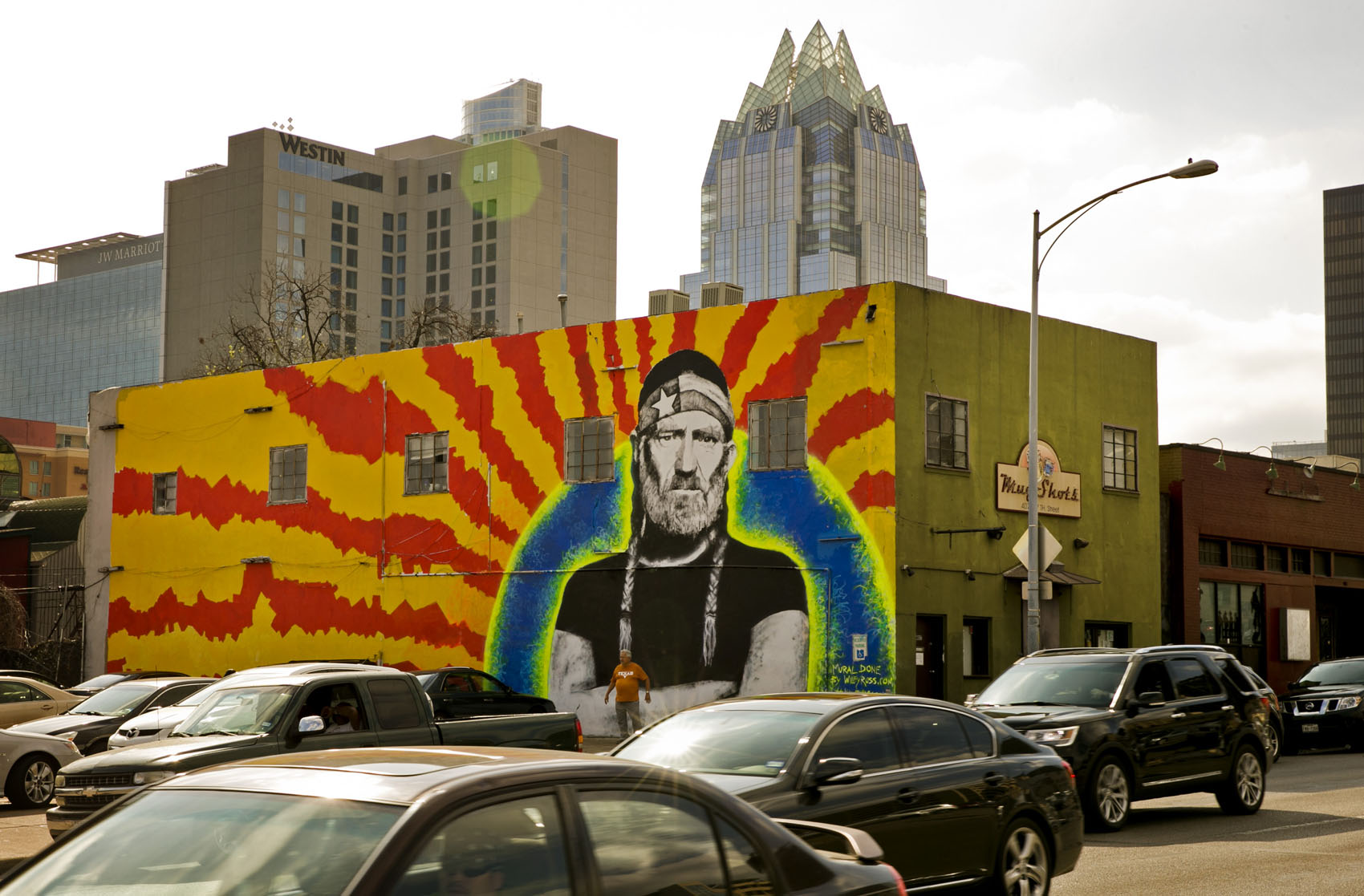 Photo Mural Willie Nelson Mural In Downtown Austin Collective Vision