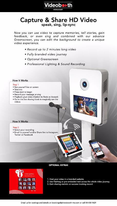 Videobooths in Dubai