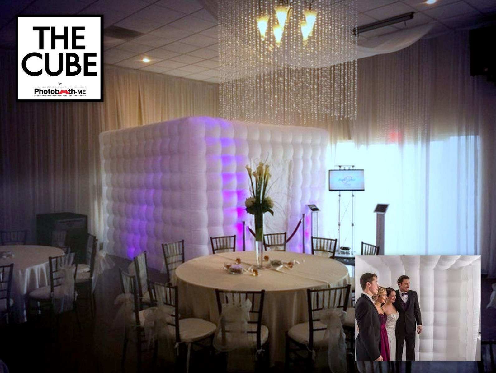 The CUBE. An Inflatable Glow-in-the-Dark Photobooth