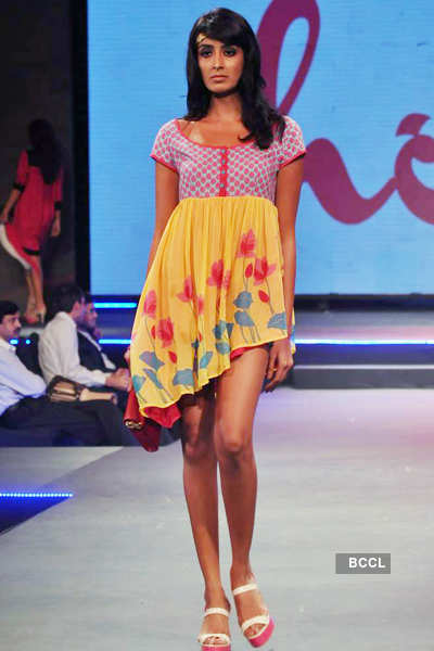 A model walks the ramp during 'Future Lifestyle Fashion ...