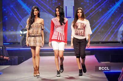 Models walk the ramp during 'Future Lifestyle Fashion ...