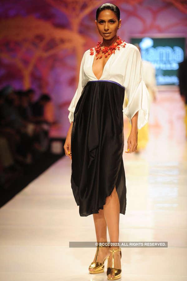 Rikki Chatterjee walks the ramp for fashion designer ...