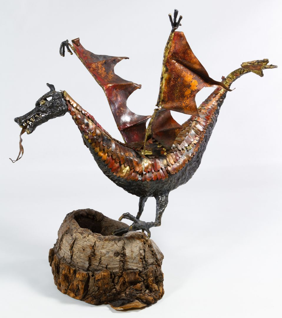 Giant Dragon Statue Lot 138 Mixed Media Dragon Statue Leonard Auction Sale 223
