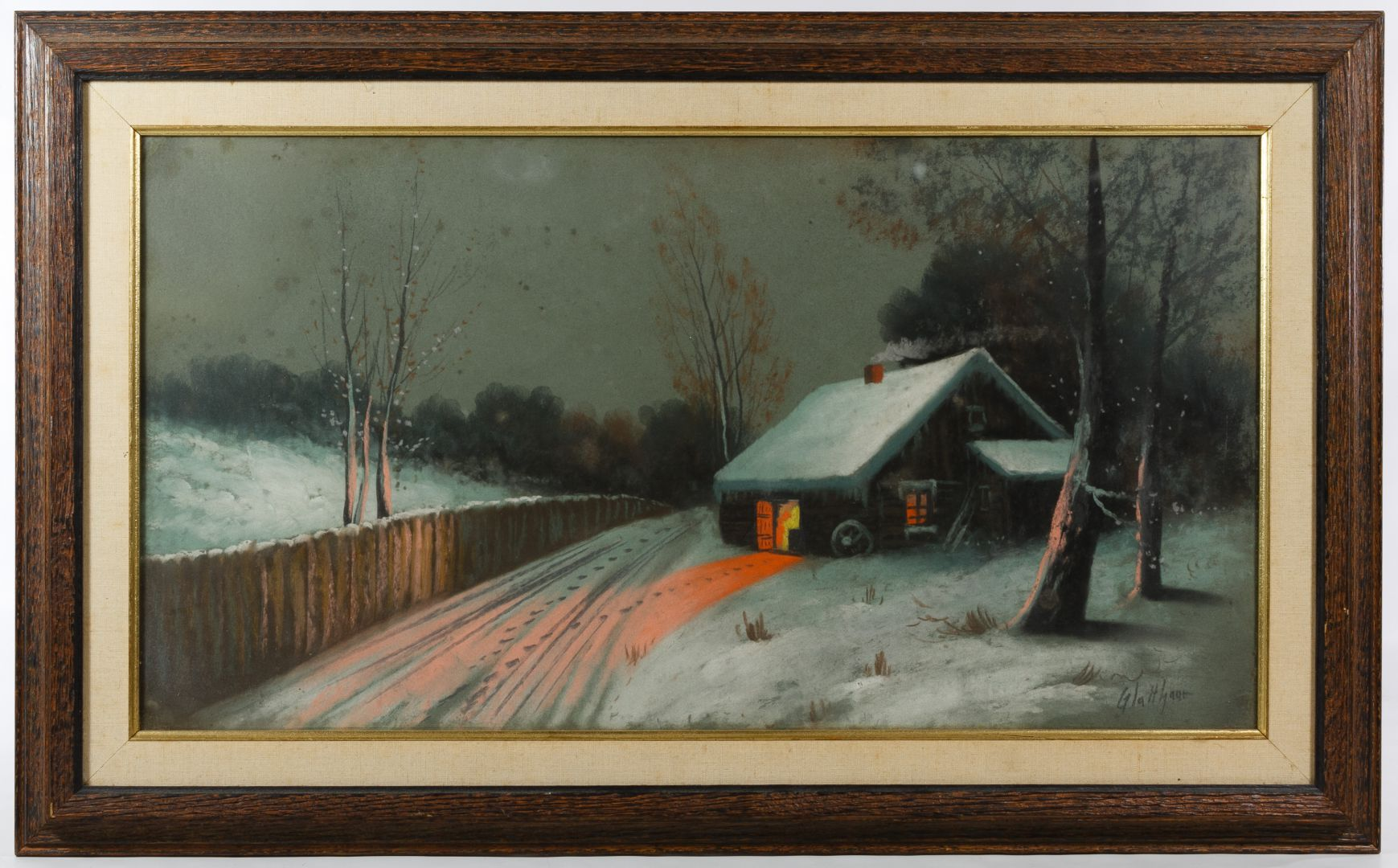 Glatthaar Lot 304 Albert Glatthaar American 1879 1950 Pastel On Board