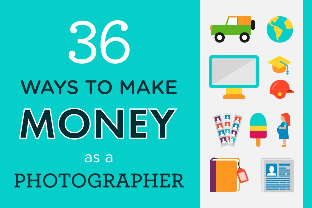 Infographic 36 Ways to Make Money as a Photographer