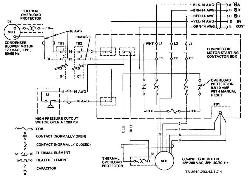 Wiring Diagram For Condensing Unit circuit diagram template