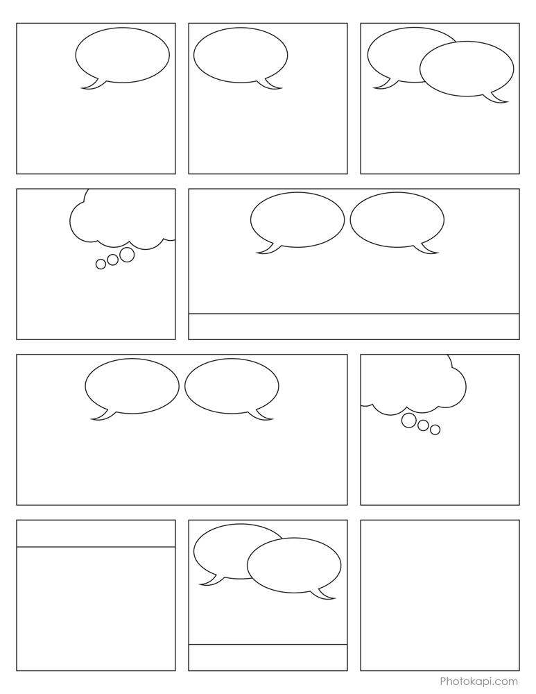 Comic Panel Template oakandale - comic panel template