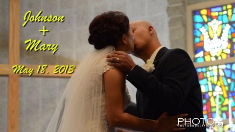 Johnson and Mary Wedding