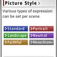 About the Picture Styles...!