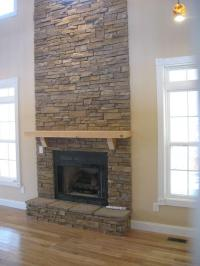 Photos stacked stone fireplace