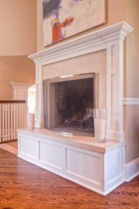 Raised hearth fireplaces photos