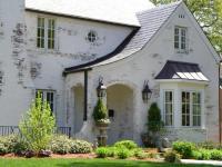 Photos of whitewash brick exterior
