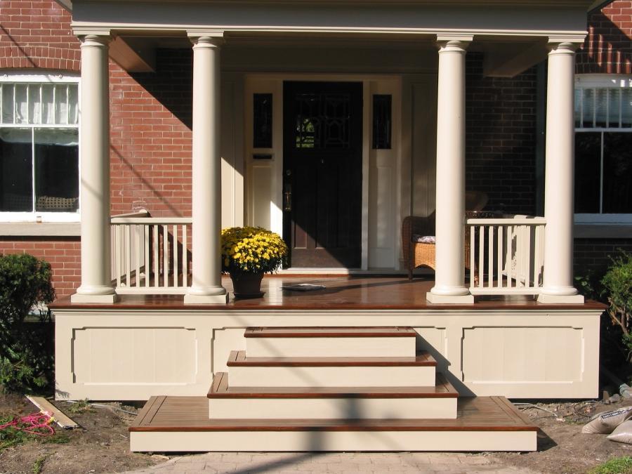 Front porch renovation photos