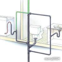 Bathroom vent pipe photo